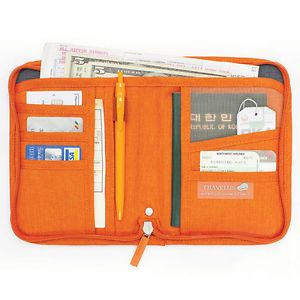 Money Passport Card Document Holder Cover Bag Travel US Folder Organizer Wallet