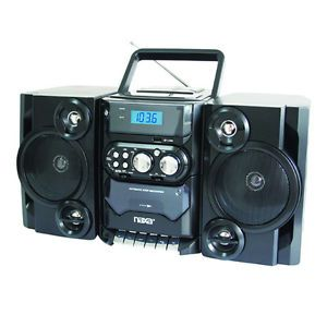 Naxa  CD Player Am FM Radio Cassette Player Recorder Twin Detachable Speakers