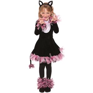 4pcs Girls Pretty Kitty Cat Halloween Fancy Dress Costume New