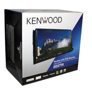 "New Kenwood DDX770 Double DIN in Dash Car DVD CD Receiver Bluetooth 7"" Monitor"