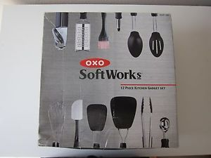 OXO Good Grips 12 Piece PC Everyday Kitchen Tool Cooking Utensil Set Home Gadget
