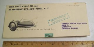 Vintage BSA Motorcycle Rich Child Cycle Jet 80 Sidecar Dealer Advertising Promo