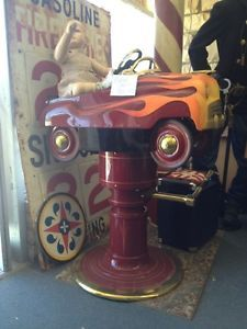 1950's Vintage Children Car Hydraulic Child Barber Chair Styling Salon Equipment