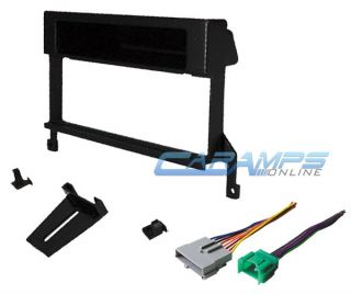 Car Stereo Radio Complete Dash Installation Trim Mount Kit with Wiring Harness