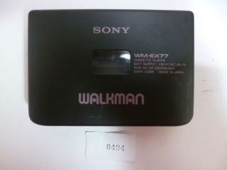 Vintage Sony Walkman Protable Cassette Player Wm EX77 Auto Reverse No 0494