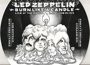 LED Zeppelin Burn Like A Candle Spec Ed 6 CD Empress Valley not Tarantura