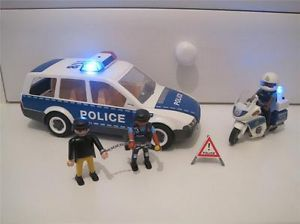 Playmobil Police Figures People Accessories Including Car Motorbike