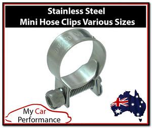 2X Mini Fuel Line Hose Clamps Clips Stainless Steel Air Water Diesel Petrol