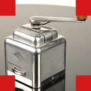 Polished French Art Deco Coffee Grinder Cast Aluminum Vintage Antique 1930s