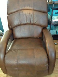 Luxury Massage Chair Deep Bourbon Leather Recliner Shiatsu Lounge