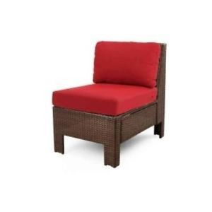 Hampton Bay 65 510233M Beverly Patio Sectional Middle Chair w Red Cushions