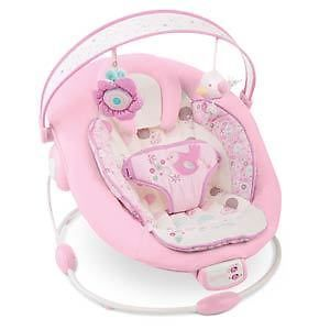 Bright Starts Comfort and Harmony Pink Florabella Bouncer Bounce Chair New