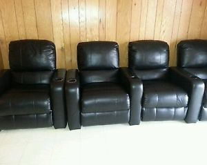 Home Theater Seating Recliner Movie Chairs 5 Seats