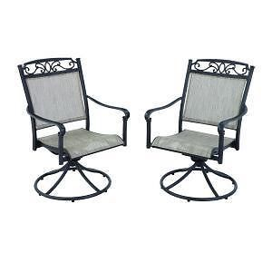 Hampton Bay Santa Maria Swivel Rocker Chairs 2 Pack New