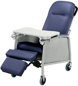 Lumex 574G Three 3 Position Recliner Geri Chair Imp Blu