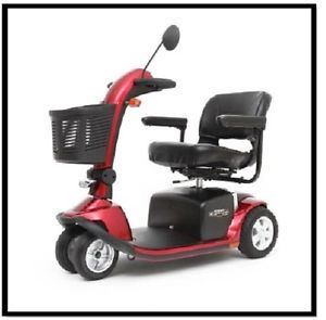 New Mega Motion MM712DX Endeavor Twin Red Electric 4 Wheel Power Chair Scooter