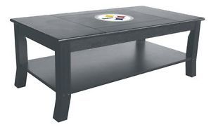 "Pittsburgh Steelers NFL Coffee Table 24"" x 44"" Team Logo Furniture"