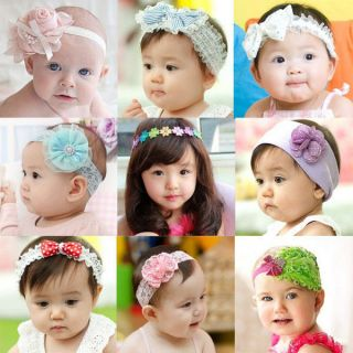1pc Baby Girl Kids Infant Peacock Feather Headband Hair Band Hair Flower