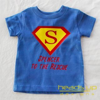 Superman Personalized Shirt Boy Girl Baby Onesie Superhero Tshirt Toddler Tee