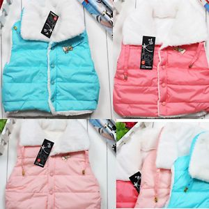 U Pink 2 5 Years Child Toddlers Kids Boys Girls Fleece Vest Winter Outwear A3450