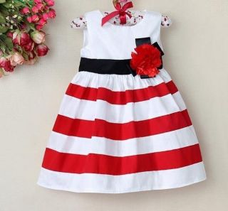 NTW Baby Girls Floral Tutu Dresses Kids Princess Tripled Skirt Clothes SZ1 5T