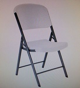 S 4 Lifetime Commercial Contoured Folding Chair White Granite