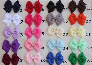 "Hot 20 Pcs 3 5"" Grosgrain Girls Baby Boutique Hair Bows with Alligator Clip Lot"