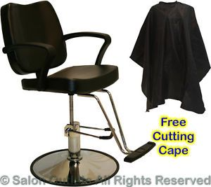 New Hydraulic Black Barber Styling Chair Hair Cutting Spa Beauty Salon Equipment