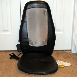Homedics MCL 110H Shiatsu Kneading Massage Chair Cushion Massager with Heat