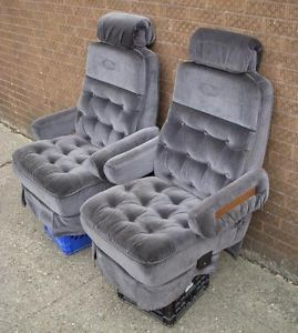1994 Dodge RAM Primetime by Glaval Van Charcoal Cloth Front Seats Captain Chairs