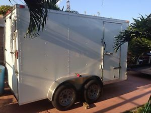 6x12 Enclosed Trailer Cargo Tandem Dual Double Axle V Nose Lawn Motorcycle 14