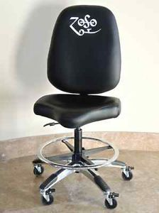 $900 Jimmy Page Guitar Chair Premium Leather Telescopic Gas Lift $1