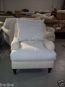 Pottery Barn Carlisle Sofa Chair Slipcovered Style Armchair Wingback Accent
