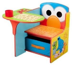 Sesame Street Elmo 123 Toddlers Kids Activity Craft Chair Table Desk Storage Bin