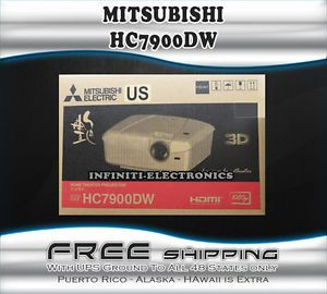 New Mitsubishi HC7900DW DLP 3D Home Theater Projector HC 7900 White 082400033680