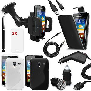 12 x Accessory Bundle Kit Fits Samsung Galaxy Ace Plus S7500 Case Car Screen