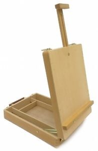 Artist Desktop Easel Portable Compact Wooden Display Stand Student Painting New