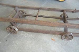 Antique Arcade Cast Iron Machine Truck Dolly Hand Cart Stove Pallet Jack