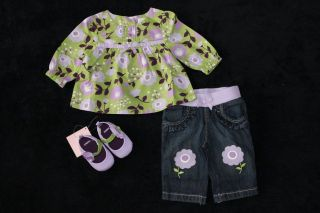 Gymboree Newborn Baby Girl Clothes Lot Blouse Pants Shoes Outfit 0 3 Months