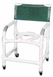 "Deluxe Medical Quality PVC 22"" Wheeled Shower Chair Rolling Toilet Seat Commode"