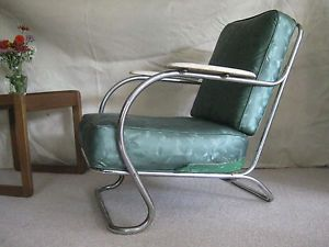 Art Deco Lloyd Manufactuting Co Tubular Lounge Chair Great Style and Comfrort