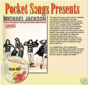 Michael Jackson Documentary Book with Pocket Songs 1063