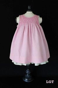 Gorgeous Baby Toddler Girl Clothes Striped Pink Sleeveless Dress 9M Ralph Lauren