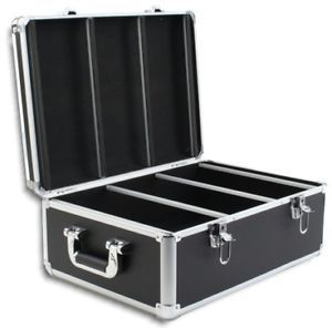 600 Disc Black PVC Leather CD DVD DJ Case with Aluminum