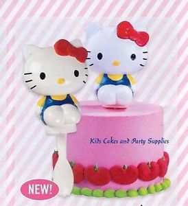Hello Kitty Spoon Topper Mini Petite Cake Decoration Birthday Party Supplies