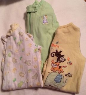 Lot of 3 Baby Boys Fall Winter One Piece Outfits Sz NB 0 3 3 6 MO 456