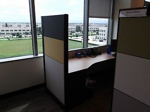 Office Cubicle with Full Window View