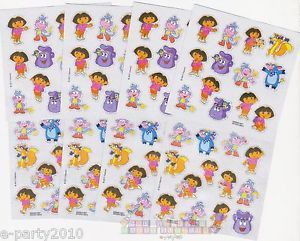 8 Sheets Dora The Explorer Stickers Birthday Party Supplies Nick Jr Go Diego
