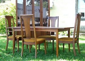 Danish Mid Century Modern Dining Table 4 Chair Set Lenoir Chair Company