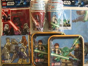 Star Wars Lego Birthday Party Supply Kit w Treat Bags